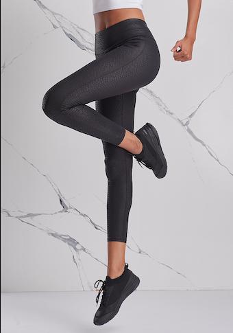 LASCANA ACTIVE Leggings, mit Ton-in-Ton Schlangenmuster