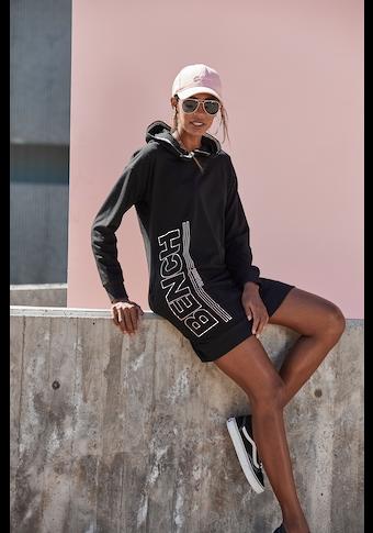 Bench. Sweatkleid, mit senkrechtem Logodruck