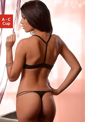Melrose Set: Push-up-BH mit String