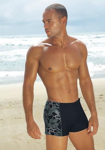 s.Oliver RED LABEL Beachwear : boxer de bain avec inscription logo au bel aspect usé