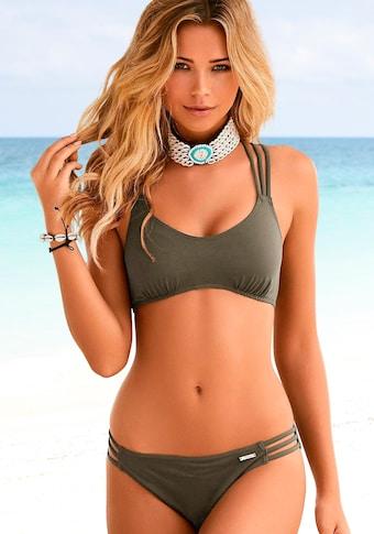 Bruno Banani Bustier-Bikini, mit Zierbändern