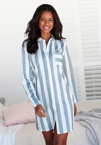 Vivance Dreams Nachthemd, im Hemdblusenlook