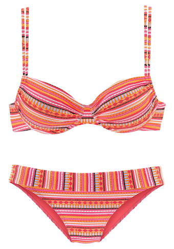 LASCANA Bügel-Bikini, mit glitzernden Streifen