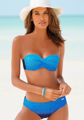 LASCANA Bügel-Bandeau-Bikini, mit Farbverlauf