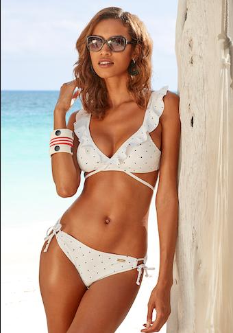 LASCANA Triangel-Bikini-Top »Sparkle«, mit kleinen Tupfen