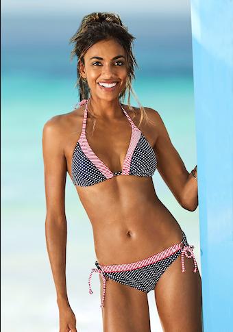 s.Oliver Beachwear Bikini-Hose »Avni«, mit abgesetztem Ziergürtel