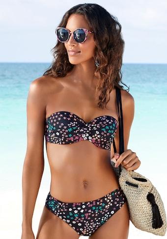 s.Oliver Beachwear Bügel-Bandeau-Bikini-Top »Milly«, mit Blumenprint
