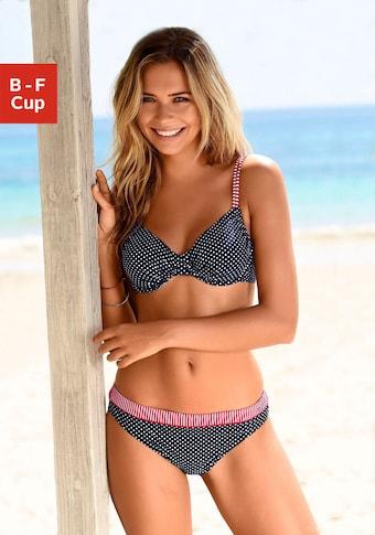 s.Oliver Bügel-Bikini-Top »Avni«, mit gerafften Cups