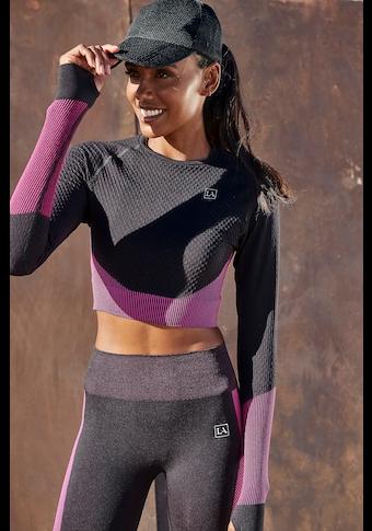 LASCANA ACTIVE Seamless Shirt, in kurzer Form mit Daumenlöchern