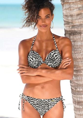 LASCANA Push-Up-Bikini-Top »Clara«, mit geknotetem Top