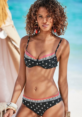 LASCANA Bügel-Bikini-Top »Kimer«, mit modernem Print