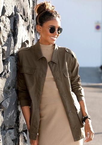 LASCANA Military-Jacke, aus Baumwolle