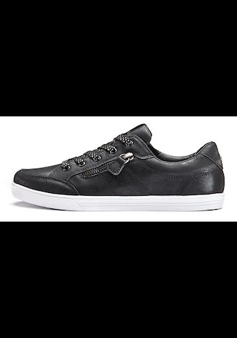 LASCANA Sneaker, in Metallic-Optik und seitlichem Zierreissverschluss