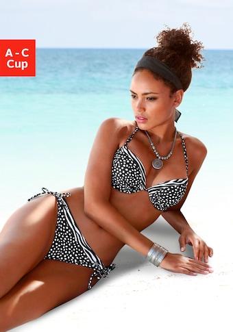 LASCANA : haut bikini push-up »Safari«