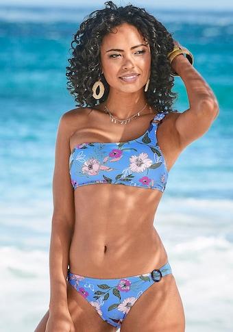 s.Oliver Bustier-Bikini-Top »Maya«, in One-Shoulder-Form und mit Zierring