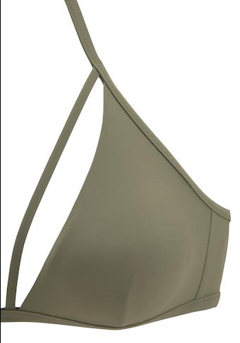 LASCANA Triangel-Bikini-Top »Scarlett«, mit Zierbändern am Ausschnitt