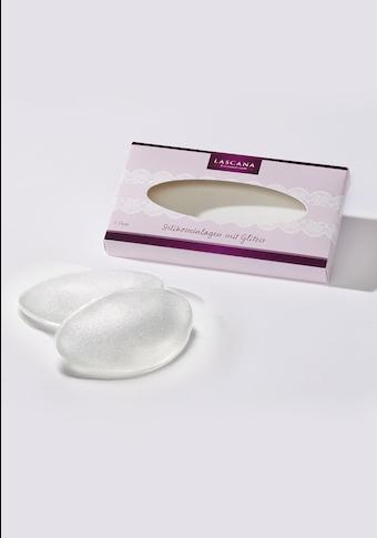 LASCANA BH-Einlagen, transparent mit leichtem Glitter