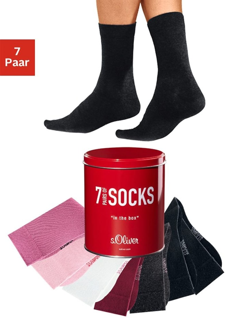 Chaussettes de bureau et de loisirs s.Oliver RED LABEL Bodywear (7 paires) dans une boîte