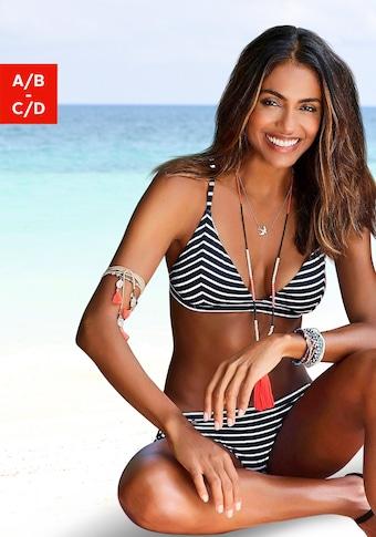 s.Oliver Beachwear Triangel-Bikini-Top »Hill«, gestreift