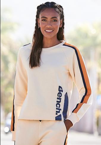 Bench. Sweatshirt, mit Kontrastlogoprint