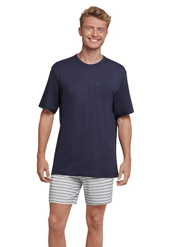 seidensticker Pyjama, in kurzer Form mit Fischgrat-Muster