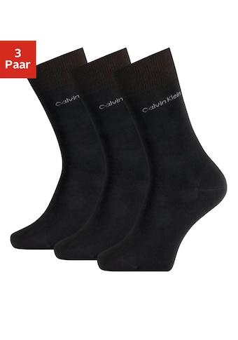 Calvin Klein Socken, (3 Paar), für Beruf und Freizeit